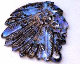 54.30cts Boulder Opal  TRIBAL  HEADDRESS  Carving LO-6825  lightningopals