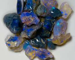 76 Cts Rough Nobby Opals with Bright Colours to Cut