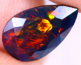 1.61cts Natural Ethiopian Welo Faceted Smoked Opal / HM2913