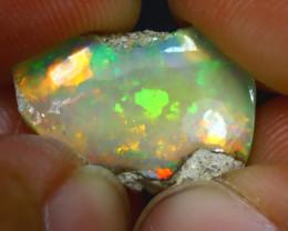 6.18Ct Multi Color Play Ethiopian Welo Opal Rough J2719/R2