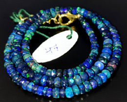 43 Crts Natural Welo Faceted Smoked Opal Beads Necklace 46