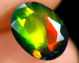 1.71cts Natural Ethiopian Welo Faceted Smoked Opal / HM2976