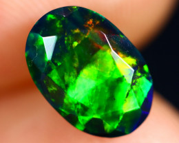 1.64cts Natural Ethiopian Welo Faceted Smoked Opal / HM2986