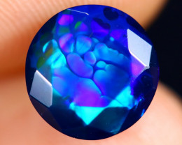 1.67cts Natural Ethiopian Welo Faceted Smoked Opal / HM2989