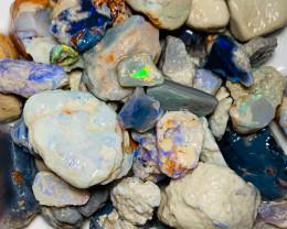 Big Colourful Rough Opals to Gamble & Go Thru