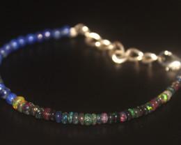 18.80 Crt Natural Welo Smoked Opal & Lapis Bracelet