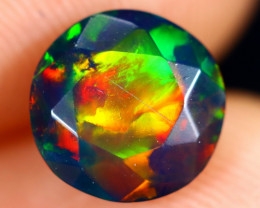 1.16cts Natural Ethiopian Welo Faceted Smoked Opal / HM2993