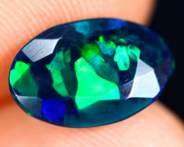 1.45cts Natural Ethiopian Welo Faceted Smoked Opal / HM2995