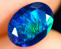 1.04cts Natural Ethiopian Welo Faceted Smoked Opal / HM3010