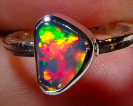$1 NR Auction 5.75size Natural Ethiopian Welo Opal .925 Sterling Silver