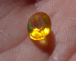 0.66 Ct Contra Luz Faceted Fire Mexican Opal
