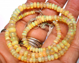 52.30 CTS   ETHIOPIAN OPAL BEADS STRAND FOB-2535 FIREOPALBEADS