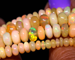 60.45 CTS   ETHIOPIAN OPAL BEADS STRAND   FOB-2536 FIREOPALBEADS