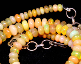 61.80 CTS   ETHIOPIAN OPAL BEADS STRAND   FOB-2538 FIREOPALBEADS