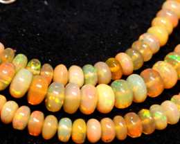 63 CTS   ETHIOPIAN OPAL BEADS STRAND   FOB-2540 FIREOPALBEADS