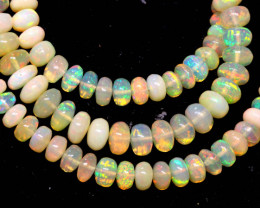 64.85 CTS   ETHIOPIAN OPAL BEADS STRAND   FOB-2541 FIREOPALBEADS