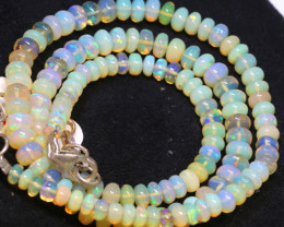 53 CTS   ETHIOPIAN OPAL BEADS STRAND   FOB-2547 FIREOPALBEADS