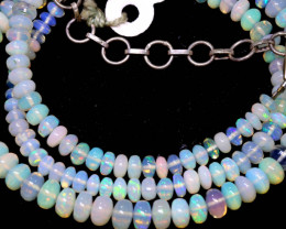 48 CTS   ETHIOPIAN OPAL BEADS STRAND   FOB-2550 FIREOPALBEADS