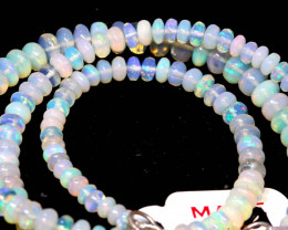 54 CTS   ETHIOPIAN OPAL BEADS STRAND   FOB-2554 FIREOPALBEADS