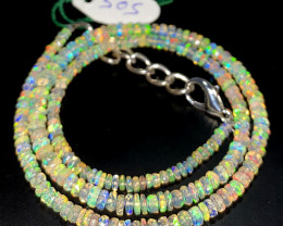 34.30 Crts Natural Welo Faceted Opal Beads Necklace 510