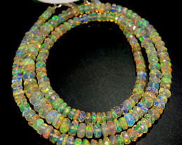 28.40 Crts Natural Welo Faceted Opal Beads Necklace 522