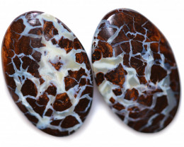 34.70 CTS KOROIT OVAL PAIRS FROM ELUSIVE MINE [FJP4596]