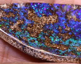 25.20 cts   Drilled Boulder Opal cut stone TBO-A3603
