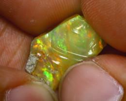 SALES 6.05Ct Multi Color Play Ethiopian Welo Opal Rough H3018/R2
