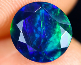 1.32cts Natural Ethiopian Welo Faceted Smoked Opal / HM3011