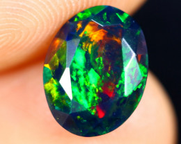 1.39cts Natural Ethiopian Welo Faceted Smoked Opal / HM3014