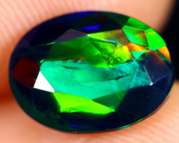 1.31cts Natural Ethiopian Welo Faceted Smoked Opal / HM3017