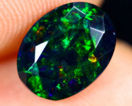 1.04cts Natural Ethiopian Welo Faceted Smoked Opal / HM3019