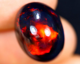 9.72cts Natural Ethiopian Welo Smoked Opal / HM3021
