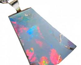 Australian Opal Pendant Solid Sterling Silver 5.6ct RRP $140! $1NR