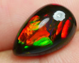 2.350 CRT BRILLIANT SMOKED TEAR DROP BROAD FLASH  BEST COLOR WELO OPAL SMOK