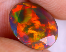 0.90cts Natural Ethiopian Welo Faceted Smoked Opal / NY3228