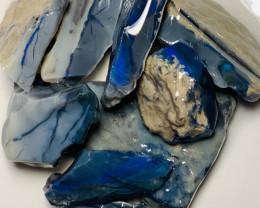Black Opal - Big & Thick Rough Black Seam to Carve & Explore