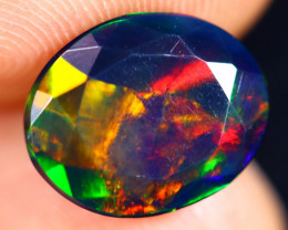 2.25cts Natural Ethiopian Welo Faceted Smoked Opal / HM3041