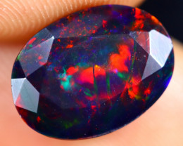 2.20cts Natural Ethiopian Welo Faceted Smoked Opal / HM3049