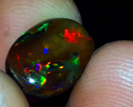 3.50 CRT AMAZING RAINBOW COLOR INDONESIAN OPAL WOOD FOSSIL
