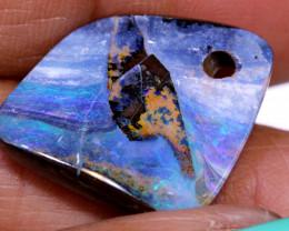 17.10 Carats Boulder Opal Pre Drilled  Ro-1773   raniopals