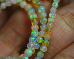30.635 CRT BEAUTIFUL OPAL BALLS NECKLACE MULTI PLAY COLOR WELO OPAL-