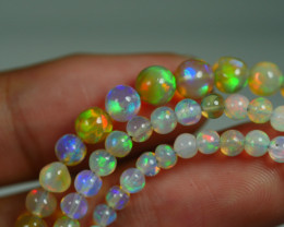 32.250 CRT BEAUTIFUL OPAL BALLS NECKLACE MULTI PLAY COLOR WELO OPAL-