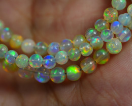 31.385 CRT BEAUTIFUL OPAL BALLS NECKLACE MULTI PLAY COLOR WELO OPAL-
