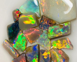 20 Cts of Multicolour Bright Opal Rubs
