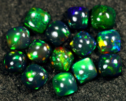 9.13cts Natural Ethiopian Welo Smoked Opal Lots  / HM3069