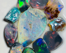 Select Parcel of Rough & Rubs - 25 Cts of Beautiful & Bright Opals