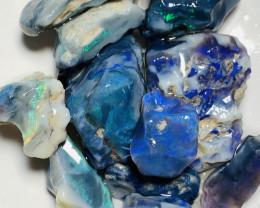 120 CTs of Bright Big Size Rough Black Seam Opals#472