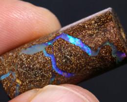 Boulder Opal Barrel Bead   AOH-785   -australianopalhunter