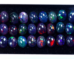 27.34cts Natural Ethiopian Welo Smoked Opal Lots / HM3101